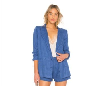 Lovers & Friends fanning linen blazer NWT size Med